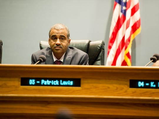 Councilman Pat Lewis is shown in this January 2016 file photo.
