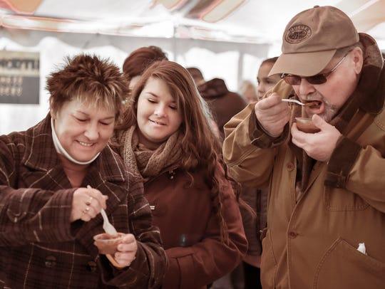 Alice Statler, Haley Seeing and Randy Statler taste