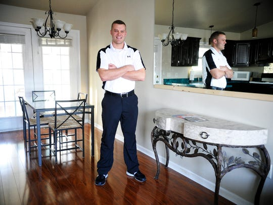 Since purchasing his Manchester Township home about two years ago, Josh Gordon has removed a wall to open up the kitchen, re-done the ground-level floor and completed other work in his bachelor pad.