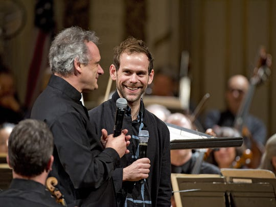 CSO conductor Louis Langrée and MusicNOW founder Bryce