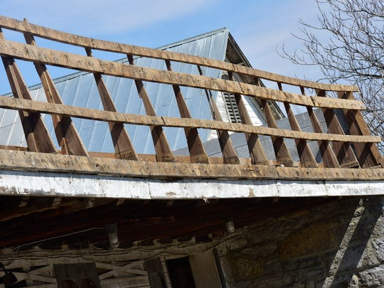 The Franklin County 4-H barn at Franklin Farm Lane, seen Tuesday, March 22, 2016 the was damaged during winter Storm Jonas will be replaced but maybe not in the same Chambersburg location.