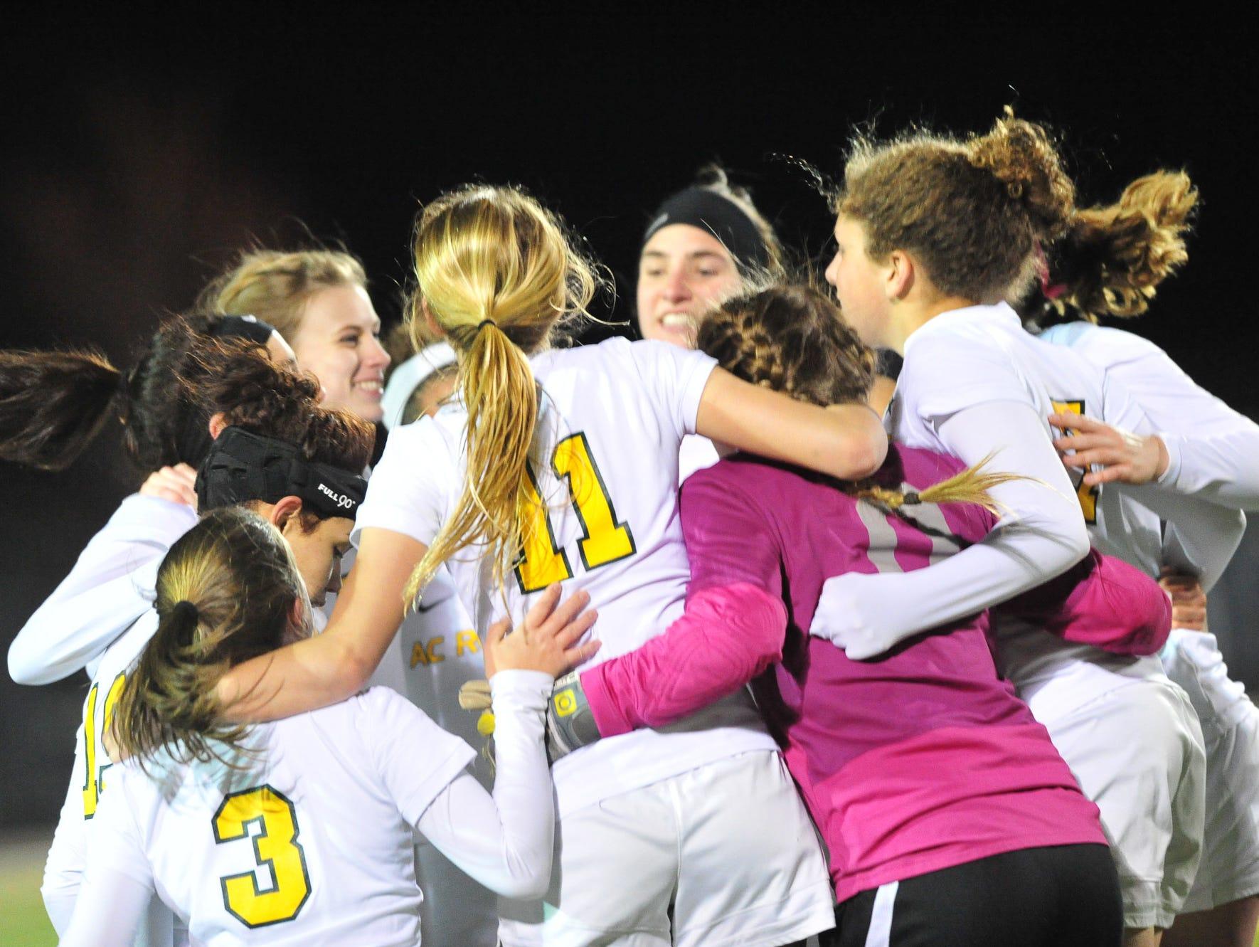 The Reynolds girls soccer team beat Asheville Christian Academy, 2-0, on Wednesday night.