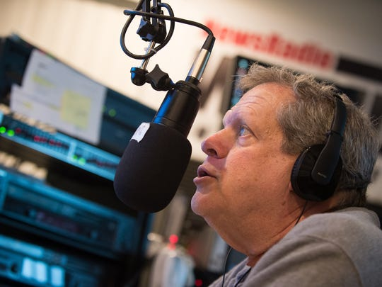 Duke Brooks hosts his radio show at WGMD-FM in Lewes on Thursday. He believes Donald Trump voters in Delaware may affect the future power of the state GOP.