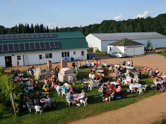 "Friday is ""Pizza on the Farm"" night at Stoney Acres Farm, Athens."