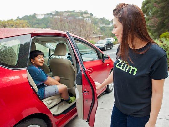 Zum in a new San Francisco-based kid ride-hailing company