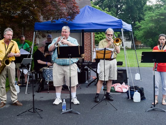 CVSM Jazz quartet and friends played on Saturday, 4, 2016 during Chef's Walk in Chambersburg, Pa.