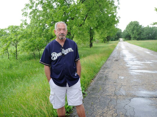Fond du Lac County Sheriff Detective Steve Hardgrove worked on the Berit Beck case. He stands near the area on Brown Road, Town of Waupun.