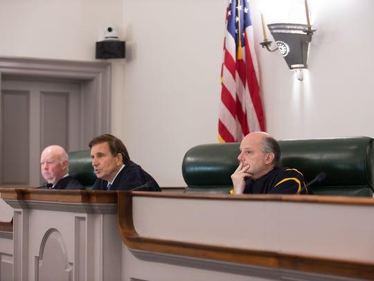 From left, Justice James T. Vaughn Jr., Justice Randy