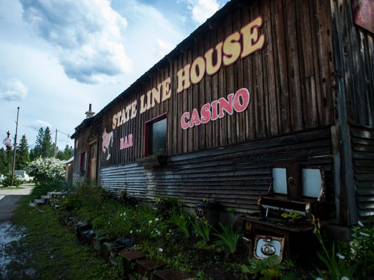 "The State Line House lies on the border between Montana and Idaho. Owner Brook Harris describes it as the community center. ""We're not a place to get drunk. We're like an open living room. We've had people show up for help, broken down, and people here go help them,"" she said."