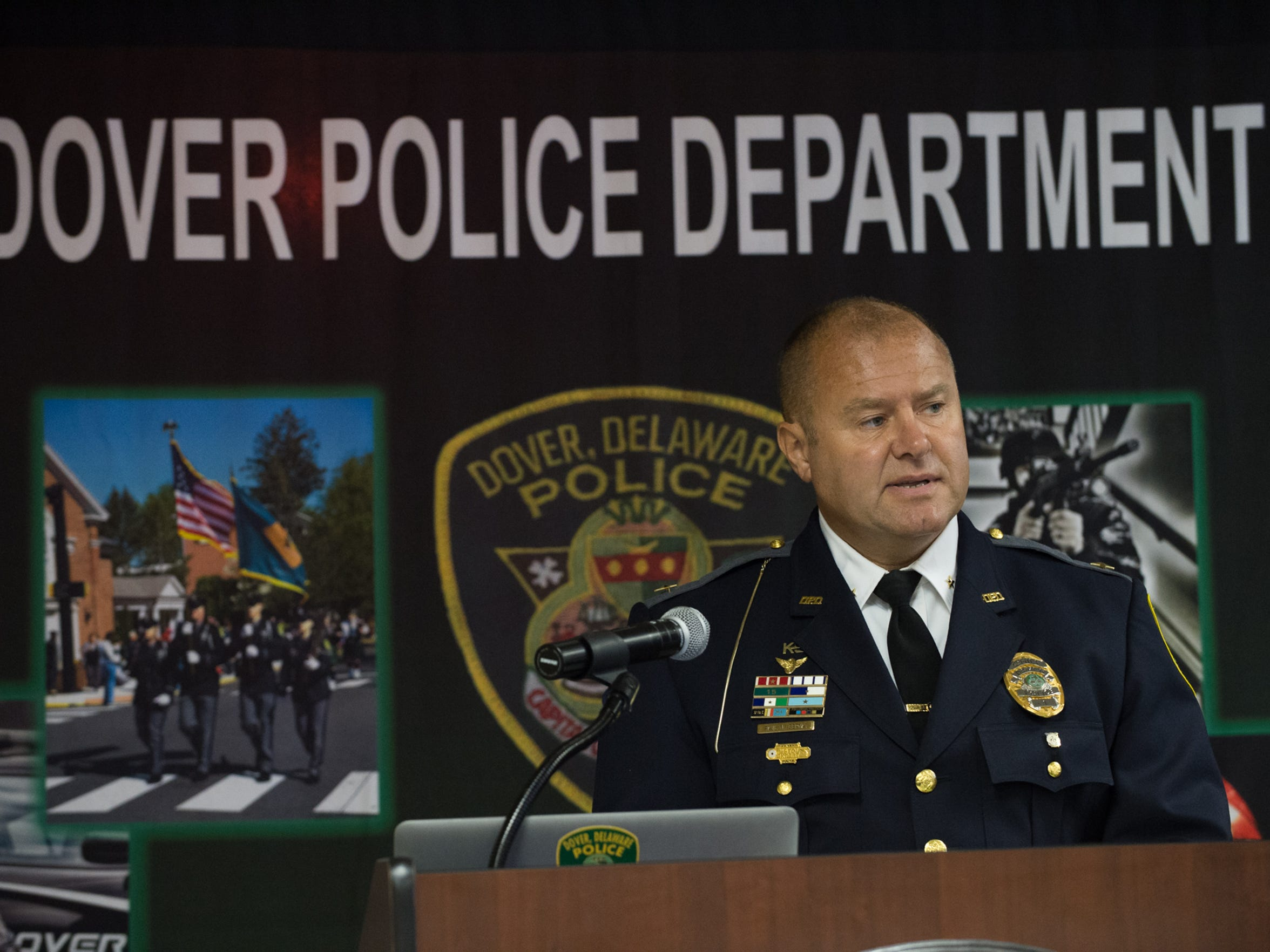 Dover police Chief Paul M. Bernat on Thursday announces a new effort to address heroin. Law enforcement agencies are shifting the approach to treating those with addiction.