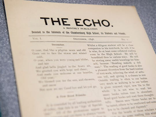 "An original copy of ""The Echo,"" dating back to December"