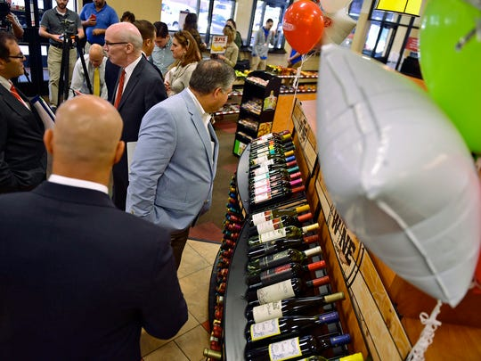 Sheetz, at East King Street, Shippensburg, sold their first bottle of wine at the store on Tuesday, October 4, 2016.
