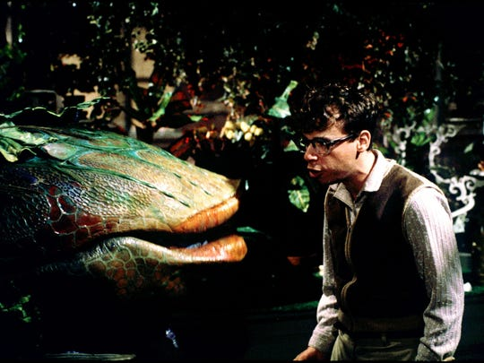 """A scene from the 1986 film """"Little Shop of Horrors"""" starring Rick Moranis as Seymour Krelborn. The story will take to the stage in two different South Jersey productions over Halloween weekend. (Gannett News Service, Murry Close)"""