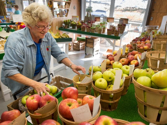 Mary Ann Neff has been working at the Kenmar Farms store next to Indian Rock Dam Road in York Township for 11 years.