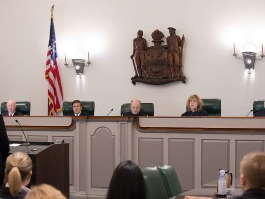 The Delaware Supreme Court listens to oral arguments.