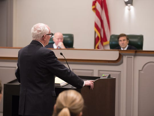 Deputy Attorney General John Williams addresses the Delaware Supreme Court in the case of D. Powell vs. State .