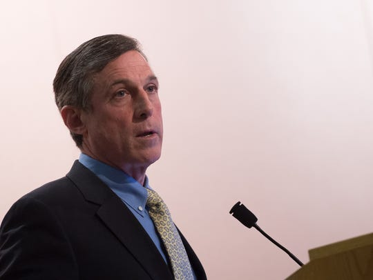 Governor-elect John Carney speaks at Polytech Adult