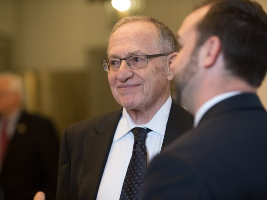 Attorney Alan Dershowitz representing Shirley Shawe, part owner of TransPerfect, before oral arguments in the case of Shawe & Elting LLC., at the Delaware Supreme Court in Dover.