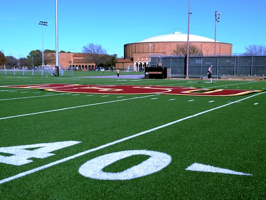 at the Midwestern State turf fields.