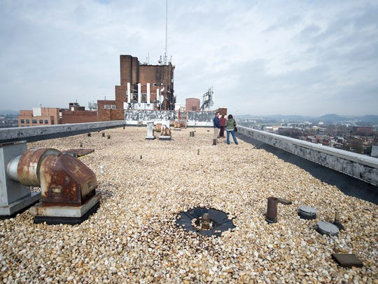 The roof of an addition to the Yorktowne Hotel. When it opens in late 2019, the hotel is expected to have event space on the roof, organizers said.
