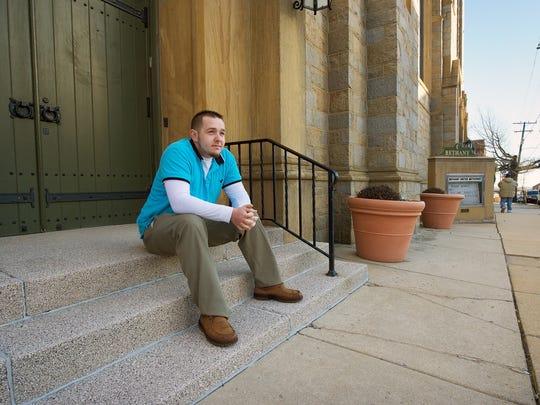 Mark Elliot outside Bethany United Methodist Church