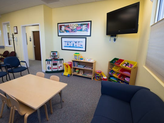View of the waiting room at the Children's Advocacy Center of Delaware in Dover.