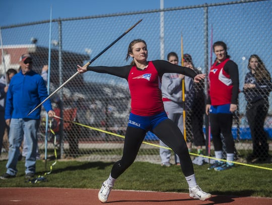 Madi Smith competes during last season, when she earned