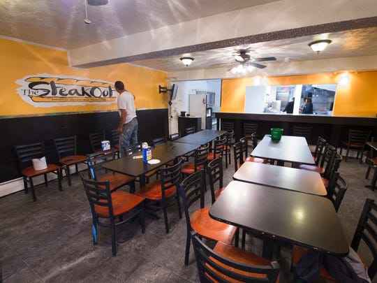 The SteakOut a cheesesteak place that used to call the West Side Cafe home, has moved to the former Market Street Thai building in the 900 block of East Market Street.