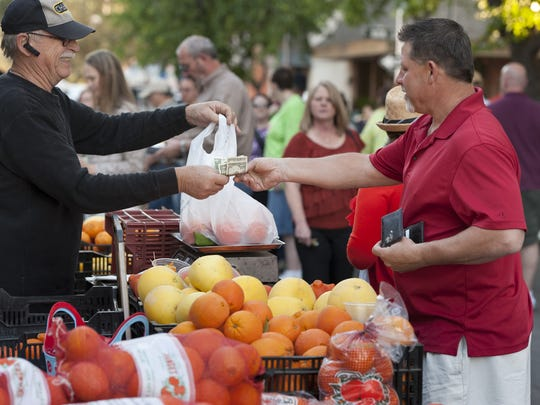 The Visalia Farmers Market features organic produce year long during its Saturday market and spring and summer during its downtown Visalia market.