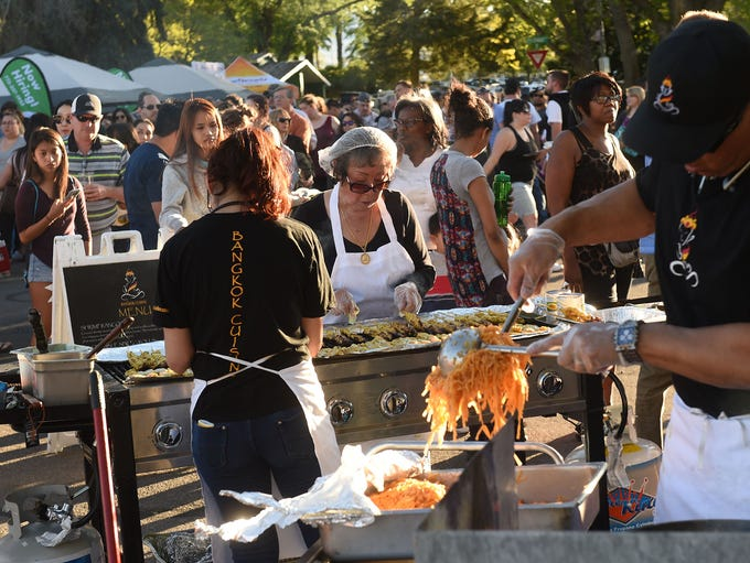 Food Truck Friday at Idlewild Park in Reno on May 19,