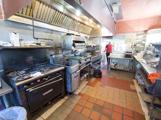 The kitchen at Lee's Diner is in the house attached to the diner in the front.