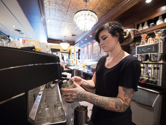 Lexi Friend, a barista, at Mug & Spoon in Rehoboth