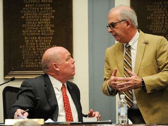 Speaker of the House Pete Schwartzkopf, D-Rehoboth (left), and House Minority Leader Danny Short, R-Seaford, are two key figures in the budget debate.