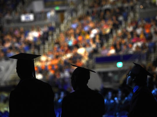 Galena High School celebrates its graduation ceremony at Lawlor Events Center in Reno on June 13, 2017.