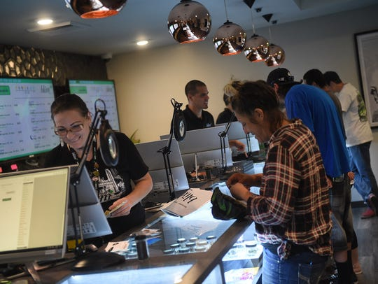 Opening day of legal recreational marijuana sales at