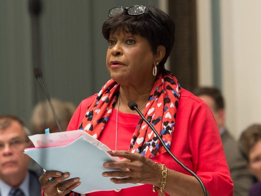 State Rep. Stephanie T. Bolden, D-Wilmington East, addresses the House during the last day of the 2018 legislative session.