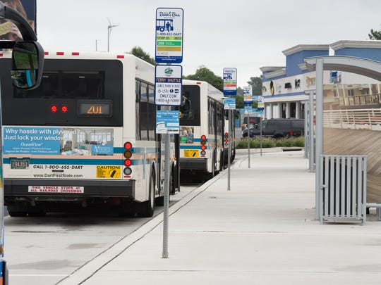 Buses line up at the Lewes Transit Center along Del. 1. A U.S Department of Transportation grant will help build a similar hub in Middletown, where the population is growing more than in any other area of the state.