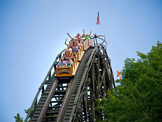 Phoenix at Knoebels Amusement Resort in Elysburg, Pennsylvania