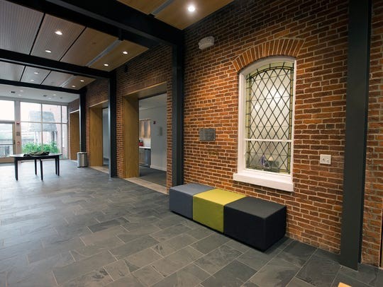 A wall of the new common area at St John Episcopal