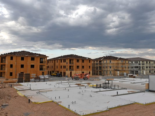 Shown are the The Vineyards at Galleria apartments under construction on Disc Drive near Pyramid Highway in Sparks on August 16, 2017.