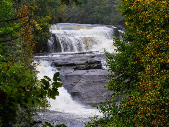 Triple Falls in DuPont State Forest is just starting