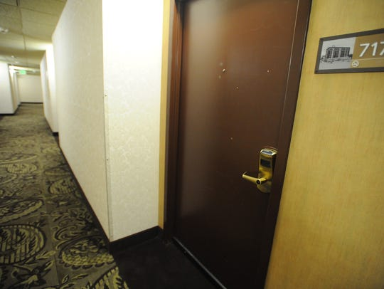 Room 717 of the Ramada, 1 N. Main St., in Fond du Lac,