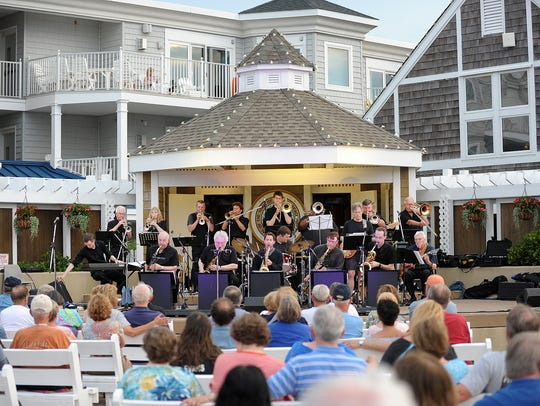 Delmarva Big Band performs at the Bethany Beach Bandstand