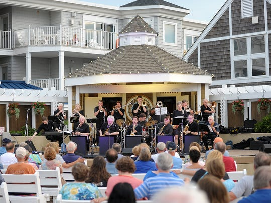 Delmarva Big Band performs at the Bethany Beach Bandstand in 2015 as part of the town's summer entertainment series.