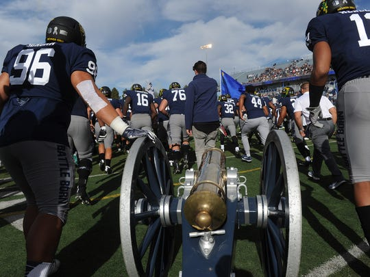 Nevada and UNLV play each season for the Fremont Cannon, the largest trophy of any college football rivalry.