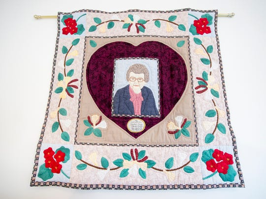 Jenni Sipe's plan to help people deal with grief began with a quilt made in honor of her grandmother in 2001. Her first practice at sewing was as a little girl making doll clothes out of feed sacks on her grandmother's treadle sewing machine.