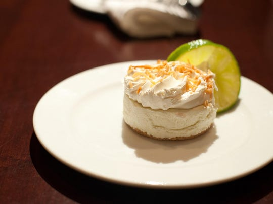 The key lime pie from Two Rivers Grille in West Des Moines. Michael Watson/Photos Special to Juice The Key Lime Pie from Two Rivers Grille in West Des Moines.