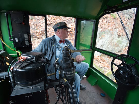 Tom Gears of Wilmington, a diesel locomotive engineer