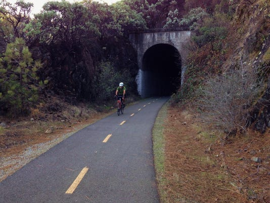 Bike On Paved Trail From Shasta Dam To Redding