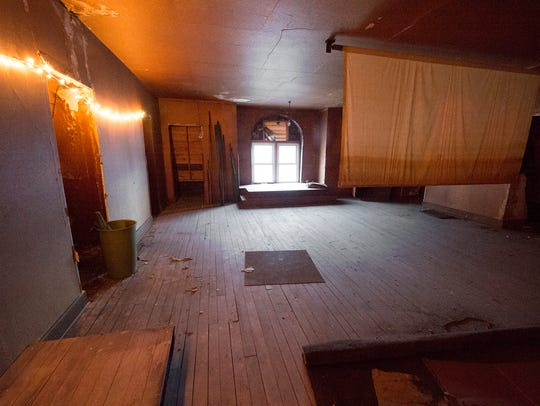 A third-floor room was once a meeting room for the